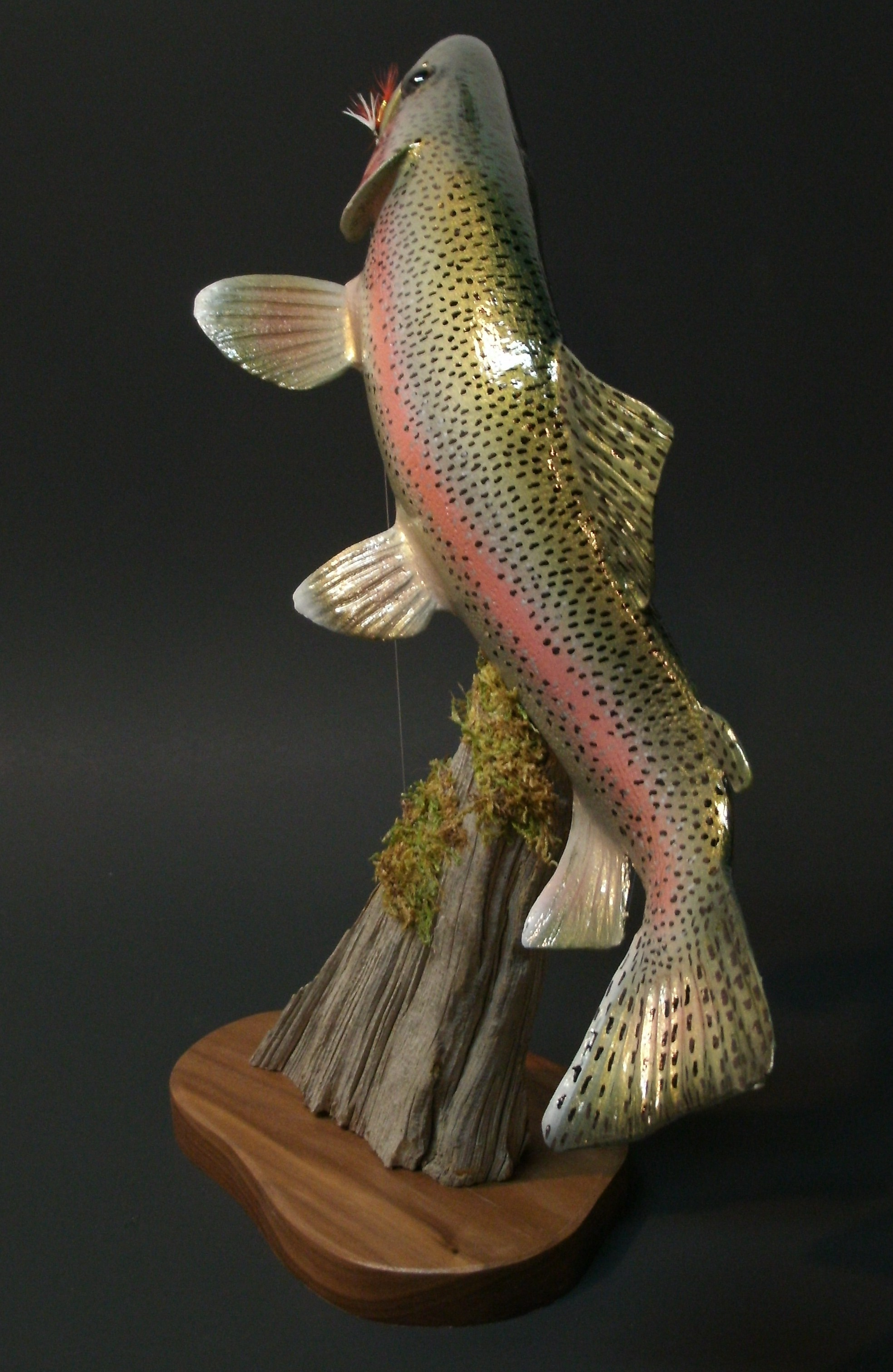 Trout sculptures and carvings by colorado award winning artist